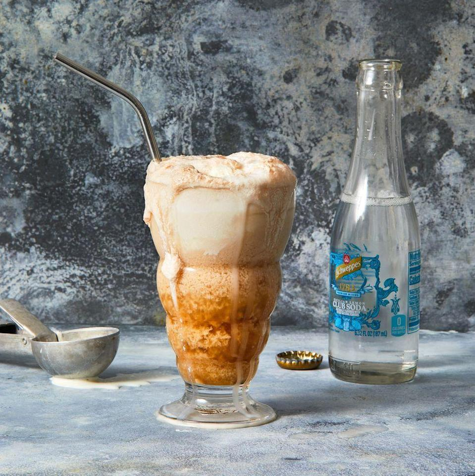 """<p>Part drink, part dessert, this dessert drink is always a crowd-pleaser!</p><p><em><a href=""""https://www.goodhousekeeping.com/food-recipes/a36368471/ice-cream-float-recipe/"""" rel=""""nofollow noopener"""" target=""""_blank"""" data-ylk=""""slk:Get the recipe for Ice Cream Float »"""" class=""""link rapid-noclick-resp"""">Get the recipe for Ice Cream Float »</a></em><br></p>"""