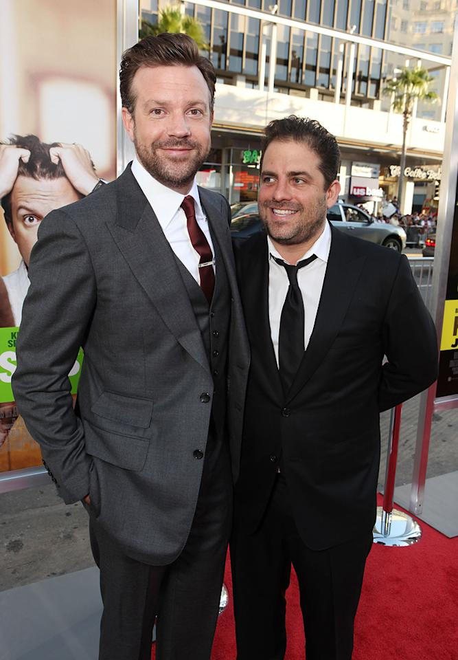 """<a href=""""http://movies.yahoo.com/movie/contributor/1809724956"""">Jason Sudeikis</a> and <a href=""""http://movies.yahoo.com/movie/contributor/1800024303"""">Brett Ratner</a> at the Los Angeles premiere of <a href=""""http://movies.yahoo.com/movie/1810161382/info"""">Horrible Bosses</a> on June 30, 2011."""