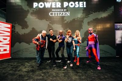 Citizen influencers Josh Peck & Sarah Merrill join Marvel on stage during NY Comic Con to celebrate new Limited Edition timepieces.