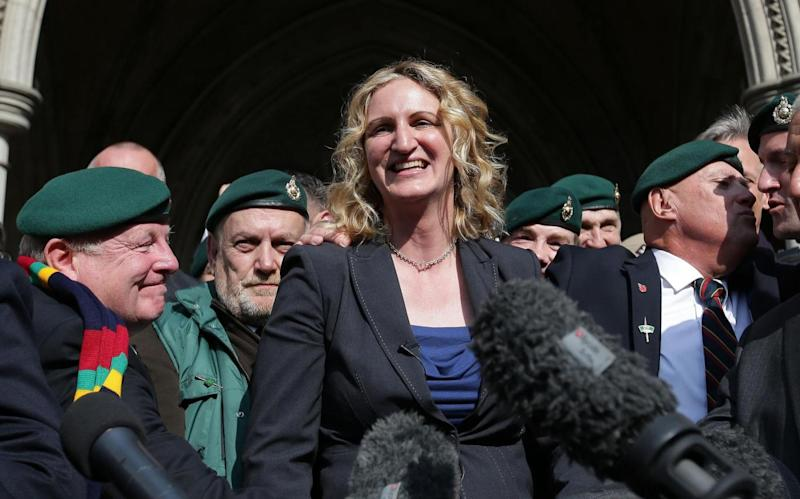 Claire Blackman, wife of jailed former British soldier Alexander Blackman (Daniel Leal-Olivas/AFP/Getty Images)