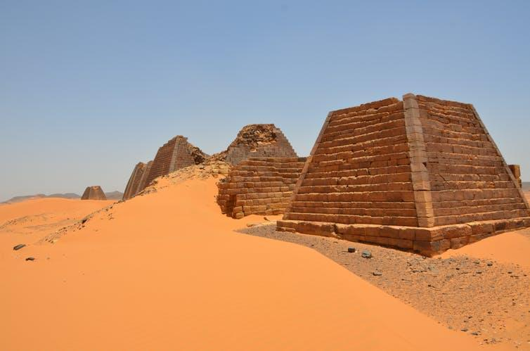 Pyramids covered by sand
