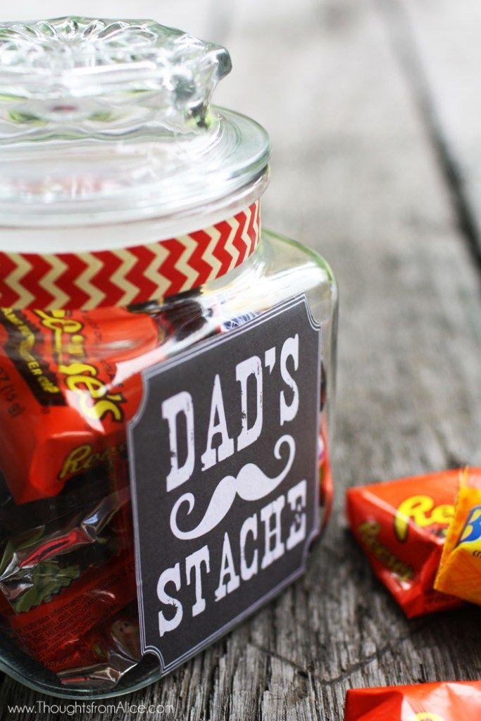 """<p>This blogger offers a fun free printable for her cute craft.</p><p><strong>Get the tutorial at <a href=""""https://alicewingerden.com/2014/06/fathers-day-gift-jar-dads-stache-free/"""" rel=""""nofollow noopener"""" target=""""_blank"""" data-ylk=""""slk:Alice Wingerden"""" class=""""link rapid-noclick-resp"""">Alice Wingerden</a>. </strong></p><p><strong><a class=""""link rapid-noclick-resp"""" href=""""https://www.amazon.com/Anchor-Hocking-Montana-Sealed-Brushed/dp/B000RMO41M?tag=syn-yahoo-20&ascsubtag=%5Bartid%7C10050.g.1171%5Bsrc%7Cyahoo-us"""" rel=""""nofollow noopener"""" target=""""_blank"""" data-ylk=""""slk:SHOP JARS"""">SHOP JARS</a><br></strong></p>"""