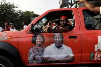 Campaign vehicle ahead presidential and parliamentary elections in Accra