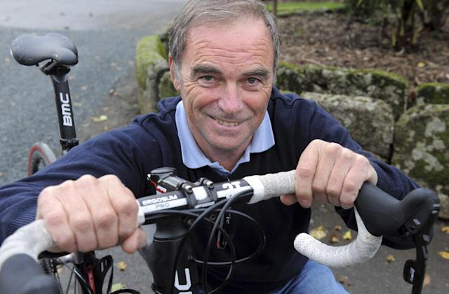 Former French cyclist and five time Tour De France winner Bernard Hinault, poses for a photo in Calorguen, western France, on November 3, 2014 (AFP Photo/Fred Tanneau)