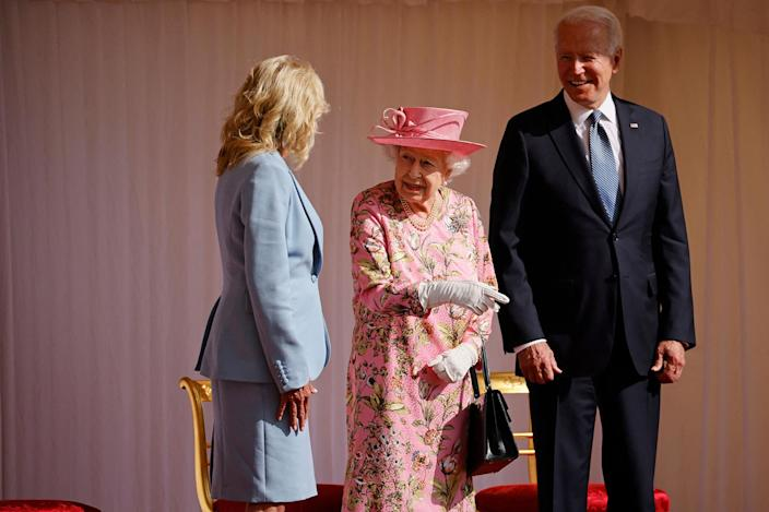 """<p>Following Sunday's visit with the Queen, President Biden flew to Brussels for the 31st Summit of the North Atlantic Treaty Organization (NATO) on June 14, where he's set to <a href=""""https://www.whitehouse.gov/briefing-room/statements-releases/2021/06/13/fact-sheet-nato-summit-revitalizing-the-transatlantic-alliance/"""" rel=""""nofollow noopener"""" target=""""_blank"""" data-ylk=""""slk:recommit to the Transatlantic Alliance"""" class=""""link rapid-noclick-resp"""">recommit to the Transatlantic Alliance</a>.</p>"""