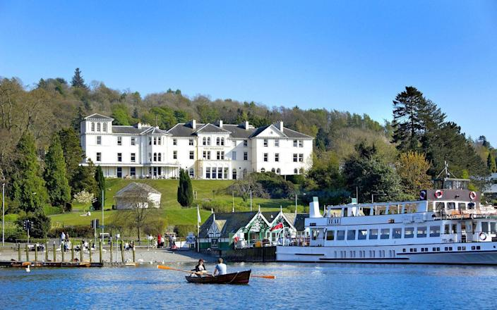 Laura Ashley Hotel The Belsfield sits beside Lake Windermere in Bowness, so that from the lawn you can watch daytrippers piling onto the lake cruisers as you sip your afternoon tea