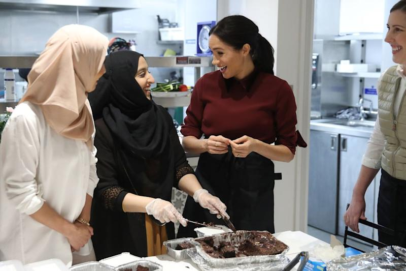 Meghan Markle visiting the Hubb Kitchen in November 2018.   Chris Jackson/Getty Images