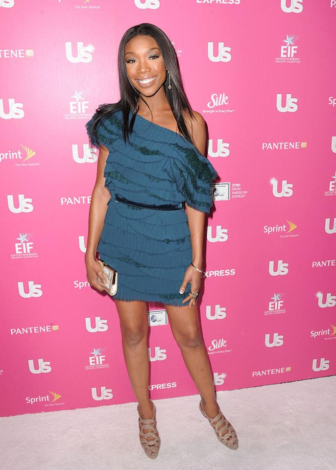 """Brandy put on a brave face following her shock exit from """"Dancing With the Stars"""" on Tuesday. """"I feel a lot better,"""" the singer told <i>Us Weekly</i> at the fete where she was being lauded for her efforts to help Jessica White, 17, get a heart transplant. """"I'm happy to be here tonight,"""" Brandy said. """"I think this is a great cause."""" Jordan Strauss/<a href=""""http://www.wireimage.com"""" target=""""new"""">WireImage.com</a> - November 18, 2010"""