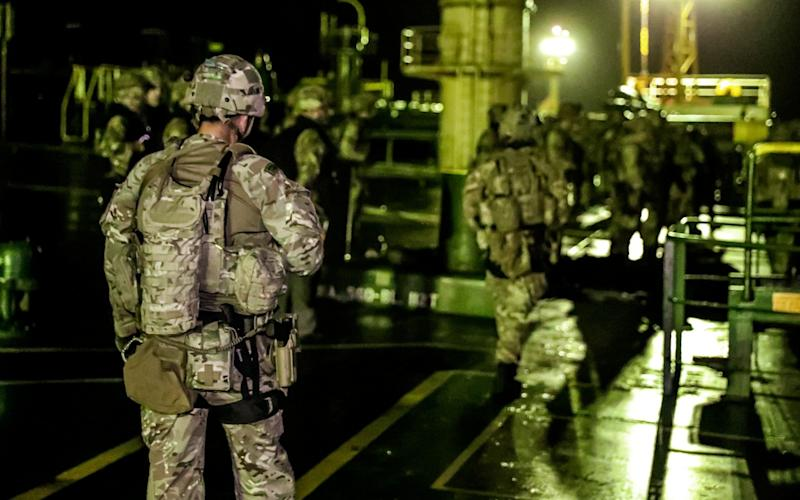 British soldiers are seen during an operation involving the oil supertanker Grace 1 - UK Ministry of Defence