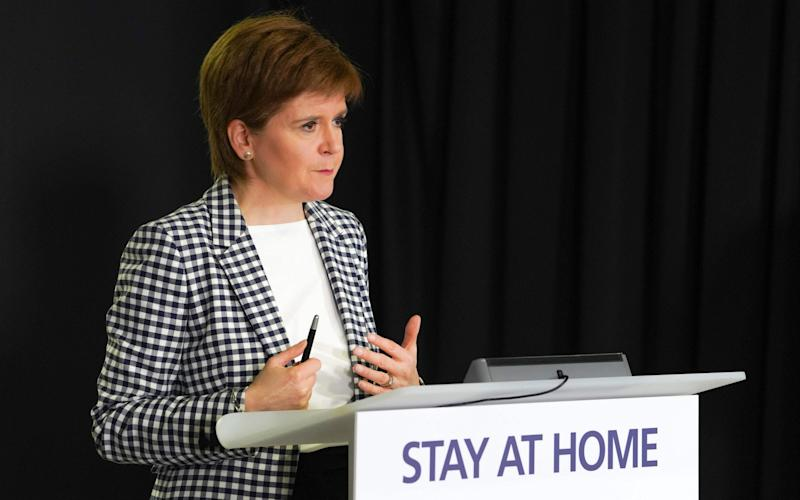 Nicola Sturgeon has backed the 'stay at home' message - but lockdown restrictions are now easing in Scotland