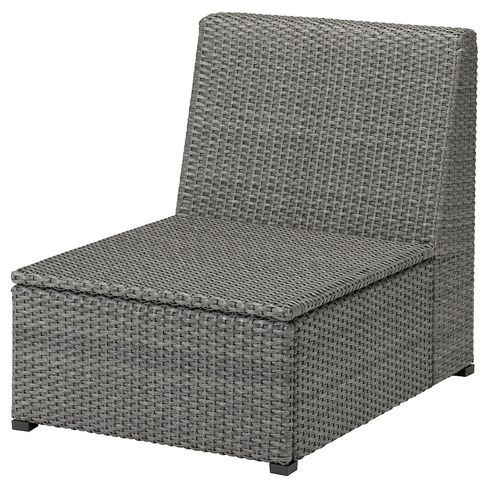 """<p>Place a cushion on this <a href=""""https://www.popsugar.com/buy/Soller%C3%B6n-One-Seat-Sectional-434468?p_name=Soller%C3%B6n%20One-Seat%20Sectional&retailer=ikea.com&pid=434468&price=120&evar1=casa%3Aus&evar9=46226851&evar98=https%3A%2F%2Fwww.popsugar.com%2Fhome%2Fphoto-gallery%2F46226851%2Fimage%2F46226929%2FSoller%C3%B6n-One-Seat-Sectional&list1=shopping%2Cfurniture%2Cikea%2Csummer%2Csmall%20space%20living%2Coutdoor%20decorating%2Chome%20shopping&prop13=api&pdata=1"""" class=""""link rapid-noclick-resp"""" rel=""""nofollow noopener"""" target=""""_blank"""" data-ylk=""""slk:Sollerön One-Seat Sectional"""">Sollerön One-Seat Sectional</a> ($120) and enjoy the sunny weather.</p>"""