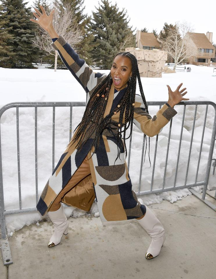 Kerry Washington has a ball on Friday at the 2020 Sundance Film Festival premiere of <em>The Fight</em> at The Marc Theatre in Park City, Utah.