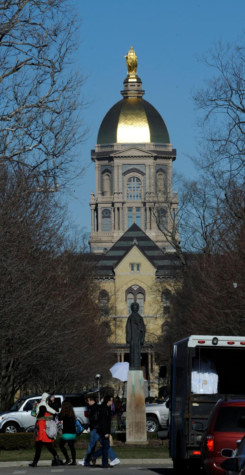 """University of Notre Dame Under Federal Review After Second Family Complains About Assault Allegations Mishandle <a href=""""http://www.huffingtonpost.com/2011/02/19/university-of-notre-dame-_n_825396.html"""">Feb. 19, 2011</a>: <blockquote>The University of Notre Dame has been placed under federal review by the U.S. Department of Education following two incidents of reported sexual assault that occurred this academic year.</blockquote>"""