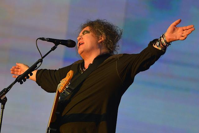 Robert Smith of the Cure performs at Hyde Park in London on July 7. (Photo: Jim Dyson/Getty Images)