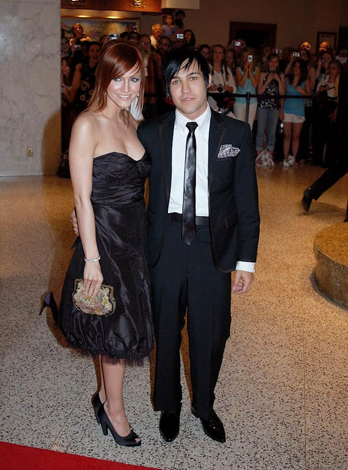 """Who do you think spent more time on their hair? Ashlee Simpson or her fiance Pete Wentz? Gene Young/<a href=""""http://www.splashnewsonline.com"""" target=""""new"""">Splash News</a> - April 26, 2008"""
