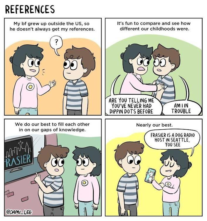 """<i><a href=""""https://www.huffpost.com/entry/funny-relationship-comic-references-pop-culture_n_5c081768e4b0844cda4f5f73"""" data-ylk=""""slk:By Dami Lee"""" class=""""link rapid-noclick-resp"""">By Dami Lee </a></i>"""