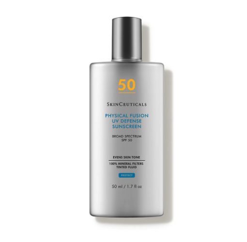 """<p><strong>SkinCeuticals</strong></p><p>dermstore.com</p><p><strong>$34.00</strong></p><p><a href=""""https://go.redirectingat.com?id=74968X1596630&url=https%3A%2F%2Fwww.dermstore.com%2Fproduct_Physical%252BFusion%252BUV%252BDefense%252BSPF%252B50_33348.htm&sref=https%3A%2F%2Fwww.prevention.com%2Fbeauty%2Fskin-care%2Fg26902204%2Fbest-tinted-sunscreens%2F"""" rel=""""nofollow noopener"""" target=""""_blank"""" data-ylk=""""slk:Shop Now"""" class=""""link rapid-noclick-resp"""">Shop Now</a></p><p>This velvety SPF from SkinCeuticals protects your skin without suffocating it. Along with its featherlight feeling, the fragrance-free, noncomedogenic formula blends seamlessly into skin for a radiant finish. Water resistant for up to 40 minutes, this tinted sunscreen is available in one shade that adapts to most skin tones but <strong>works best on light to medium complexions</strong>.</p>"""