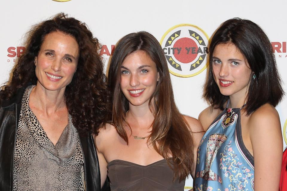 CULVER CITY, CA - APRIL 20: (L-R) Andie MacDowell, Rainey Qualley and Margaret Qualley attend the City Year Los Angeles' Spring Break: Destination Education at Sony Pictures Studios on April 20, 2013 in Culver City, California.  (Photo by Jonathan Leibson/Getty Images for City Year Los Angeles)