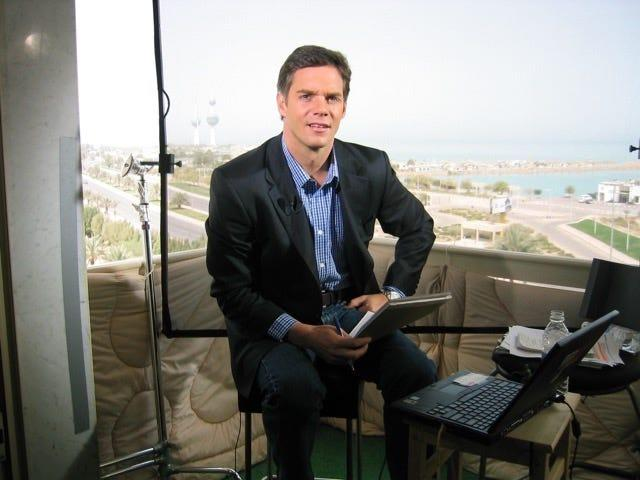 Bill Hemmer in Kuwait City in 2003.