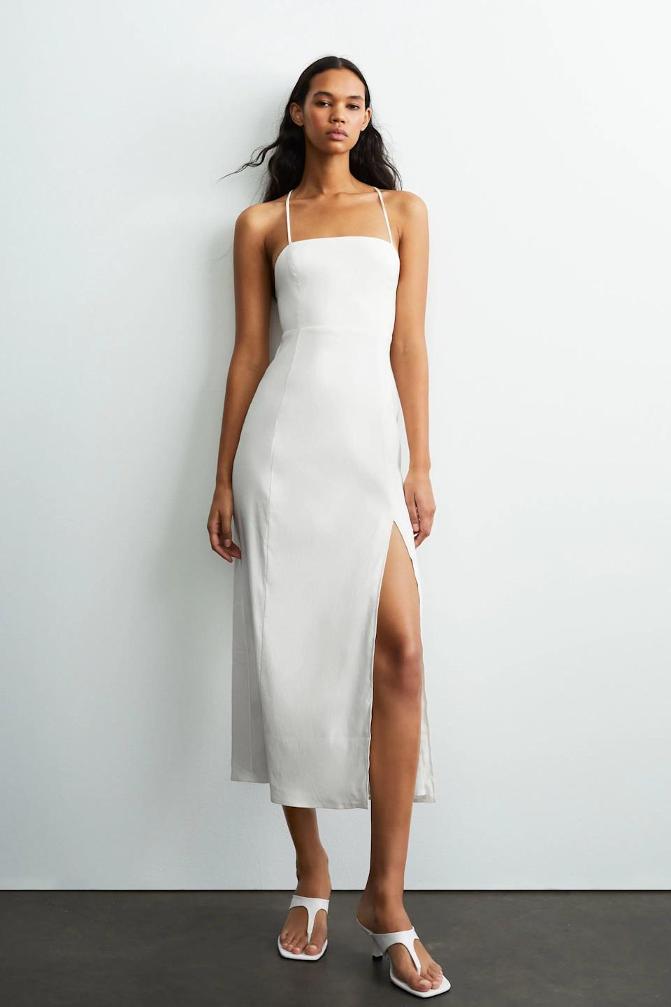 <p>This <span>Linen Blend Dress</span> ($50) will definitely turn heads.</p>