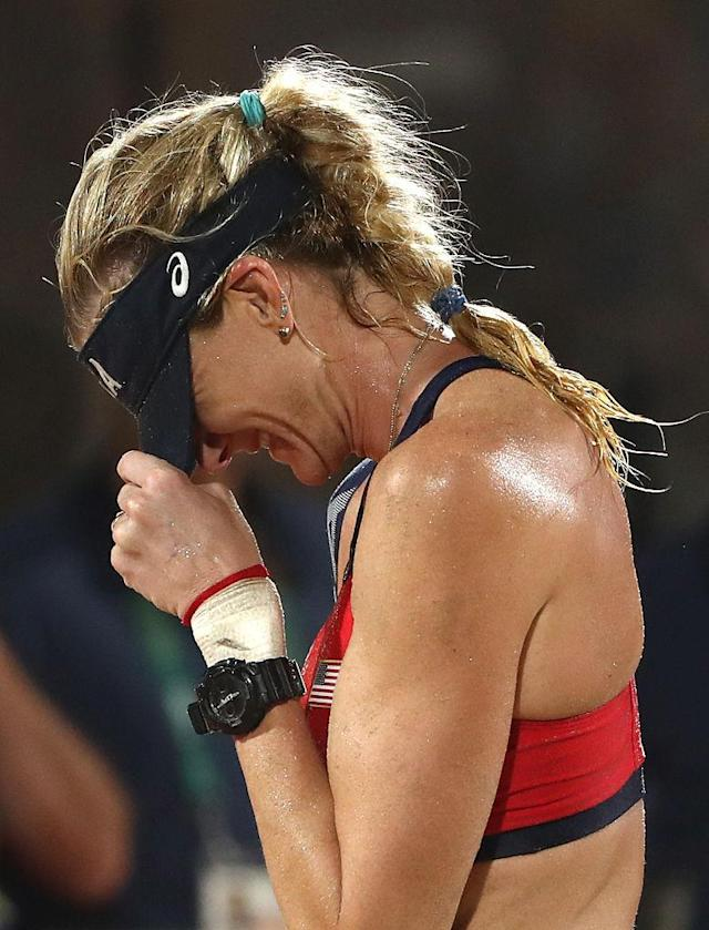 "<p>American beach volleyball player Kerri Walsh Jennings, as reported by <i><a href=""http://www.today.com/news/kerri-walsh-jennings-beach-volleyball-bronze-no-shame-third-place-t101977"" rel=""nofollow noopener"" target=""_blank"" data-ylk=""slk:TODAY"" class=""link rapid-noclick-resp"">TODAY</a></i></p>"