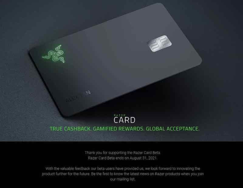 For those who are still using the Razer Card, it can be used for payments until 31st August 2021.  — SoyaCincau  pic