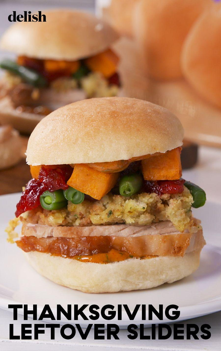 """<p>Don't sleep on that spicy mayo.</p><p>Get the recipe from <a href=""""https://www.delish.com/cooking/recipe-ideas/a24081123/thanksgiving-leftover-sliders-recipe/"""" rel=""""nofollow noopener"""" target=""""_blank"""" data-ylk=""""slk:Delish"""" class=""""link rapid-noclick-resp"""">Delish</a>.</p>"""