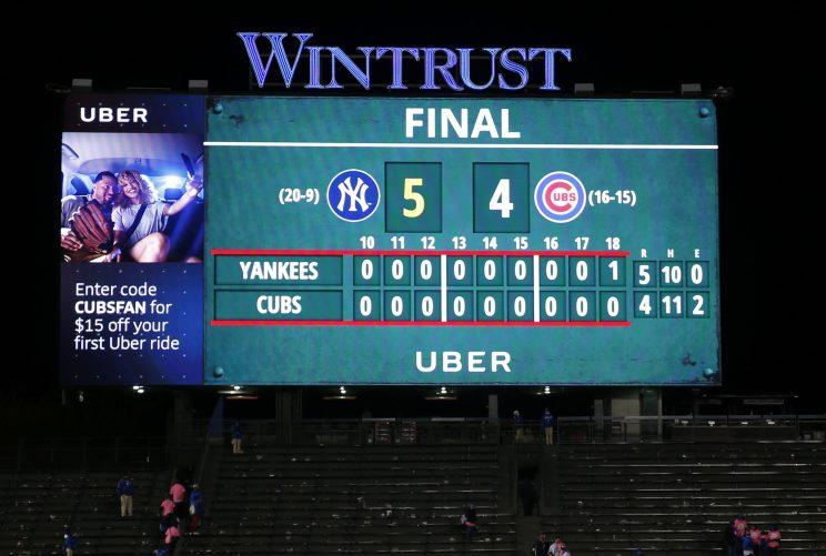 The Cubs and Yankees played 18 innings recently and that got people talking about allowing ties. (AP)