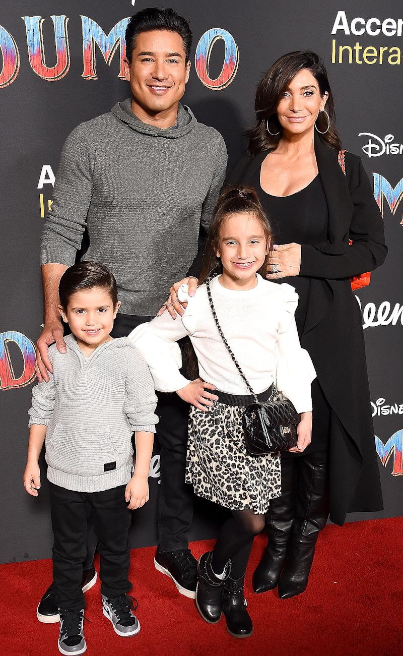 Flying High Mario Lopez Takes Pregnant Wife Courtney And Their Kids