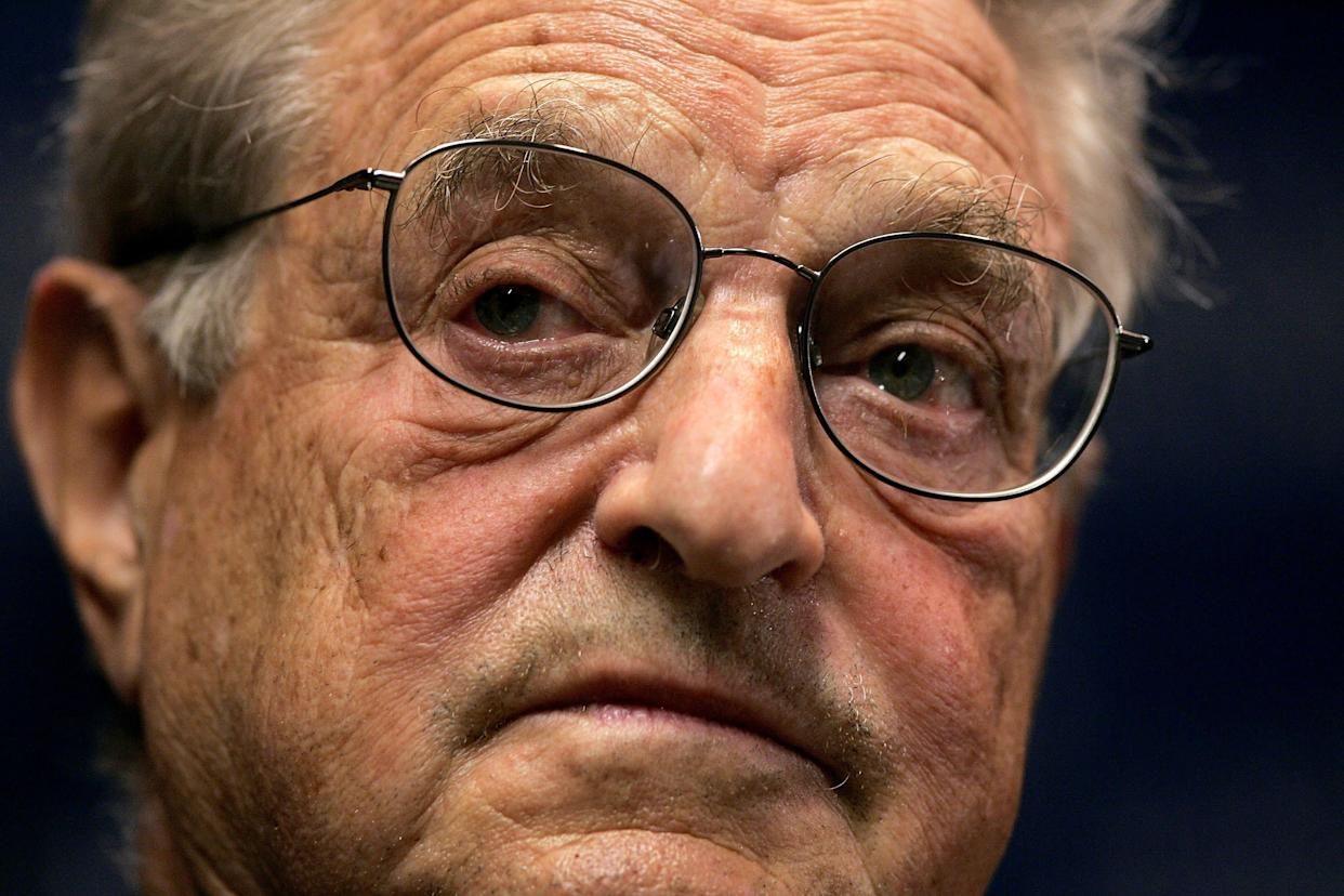"""""""George Soros hates the United States, and I'm judging that by the projects that he funds, all of which are designed to change the country as it is now or to thwart U.S. interests,"""" one pundit said. (Photo: Win McNamee via Getty Images)"""