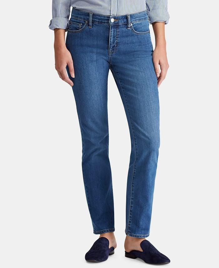 <p>If high-rise jeans aren't your thing, then opt for the <span>Lauren Ralph Lauren Super Stretch Straight Jeans</span> ($54, originally $70). They come in a number of other washes, too.</p>