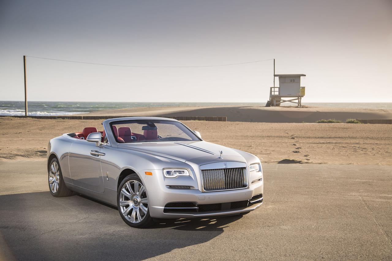 <p>The ultra-luxurious Rolls-Royce Dawn is outfitted with top-grade leather interiors and a 6.6 litre V12 twin-turbo engine under the hood. With the six-layer soft-top roof up, the cabin becomes remarkably quiet.</p>