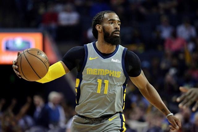 The Grizzlies are expected to field offers again for point guard Mike Conley. (AP Photo/Brandon Dill)