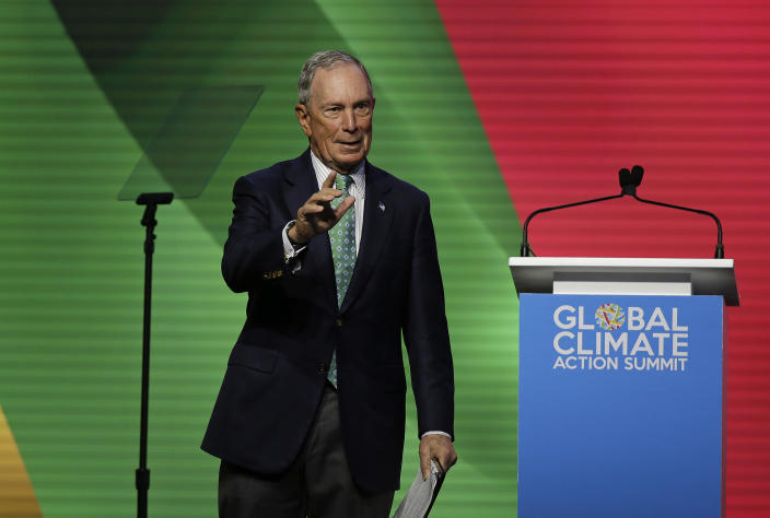Michael Bloomberg speaks at the Global Action Climate Summit in San Francisco in September. (Photo: Eric Risberg/AP)