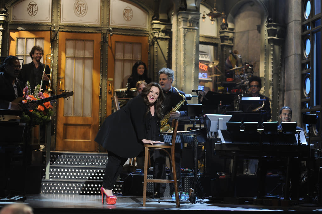 "Melissa McCarthy hosts the seventeenth episode of ""Saturday Night Live"" Season 38."