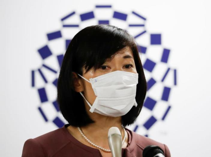 Japan's Olympic and Paralympic Games Minister Tamayo Marukawa attends a news conference, amid the coronavirus disease (COVID-19) outbreak, in Tokyo