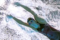 <p>An underwater view shows USA's Regan Smith competing in a semi-final of the women's 200m butterfly swimming event during the Tokyo 2020 Olympic Games at the Tokyo Aquatics Centre in Tokyo on July 28, 2021. (Photo by François-Xavier MARIT / AFP)</p>