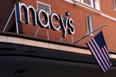A sign marks the Macy's store in Boston, Massachusetts, U.S., February 21, 2017.   REUTERS/Brian Snyder