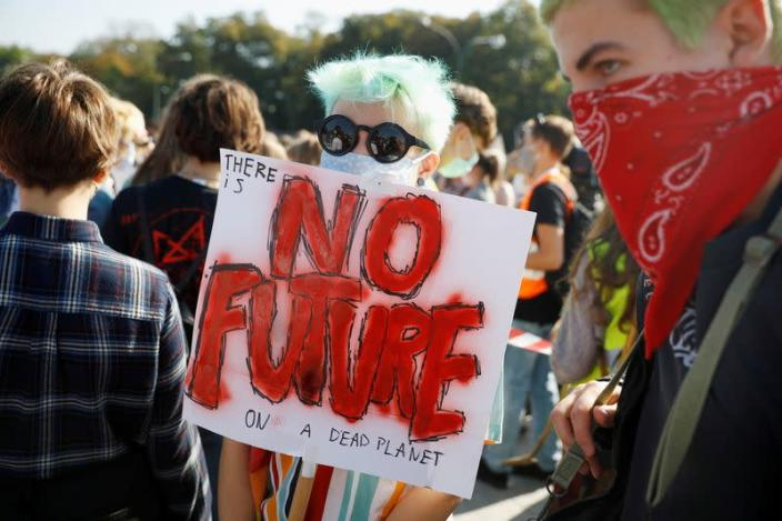 FILE PHOTO: Fridays for Future activists protest in Warsaw