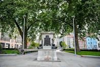 The statue of slave trader Edward Colston was pulled down from its plinth in Bristol city centre (PA).