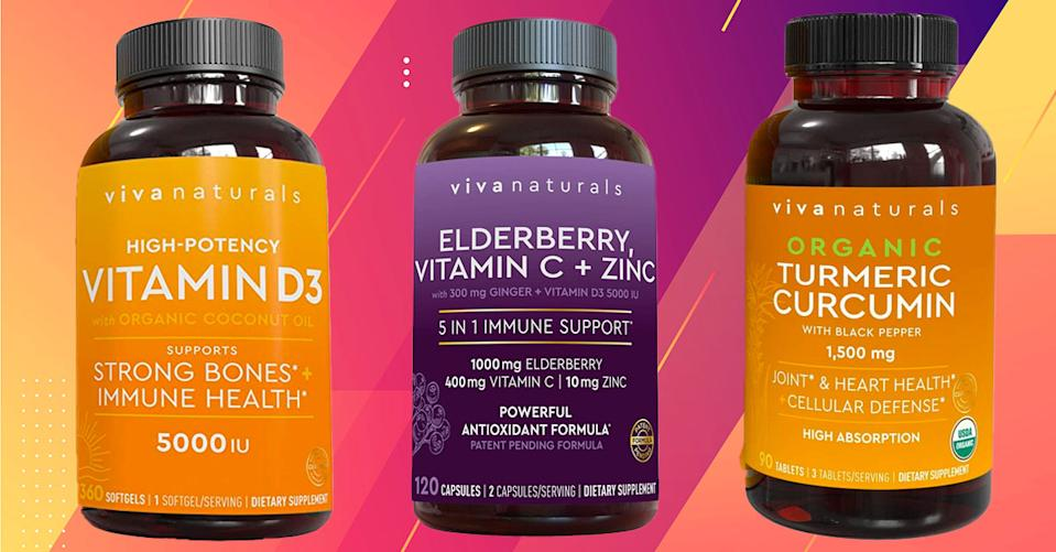 Keep your defenses up with health-enhancing Viva Naturals supplements and save more than 30 percent today. (Photo: Amazon)
