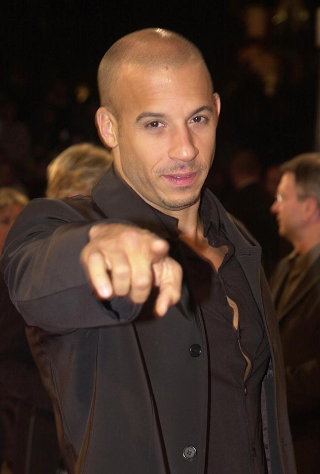 """<a href=""""http://movies.yahoo.com/movie/contributor/1800020716"""">Vin Diesel</a> at the Deauville premiere of <a href=""""http://movies.yahoo.com/movie/1804383575/info"""">Fast and the Furious</a> - 09/01/2001"""