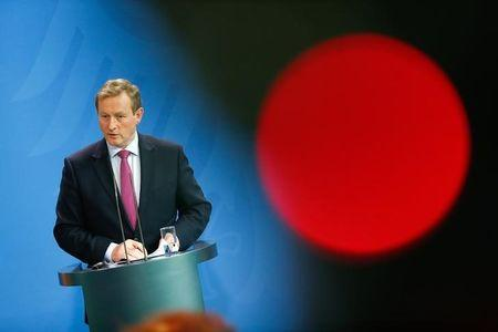 Irish Prime Minister Enda Kenny addresses the media during a news conference in Berlin