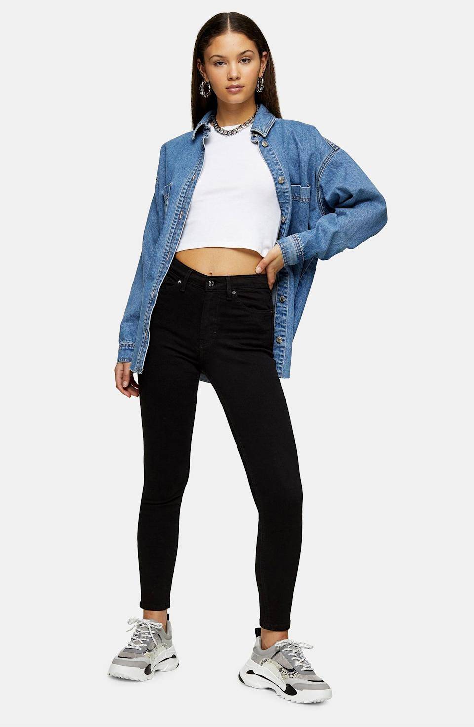 "<p>Customers love these bestselling <a href=""https://www.popsugar.com/buy/Topshop-Jamie-High-Waist-Black-Jeans-585697?p_name=Topshop%20Jamie%20High%20Waist%20Black%20Jeans&retailer=shop.nordstrom.com&pid=585697&price=49&evar1=fab%3Aus&evar9=45615413&evar98=https%3A%2F%2Fwww.popsugar.com%2Ffashion%2Fphoto-gallery%2F45615413%2Fimage%2F47583279%2FTopshop-Jamie-High-Waist-Black-Jeans&list1=shopping%2Cdenim%2Cwinter%2Cwinter%20fashion&prop13=mobile&pdata=1"" class=""link rapid-noclick-resp"" rel=""nofollow noopener"" target=""_blank"" data-ylk=""slk:Topshop Jamie High Waist Black Jeans"">Topshop Jamie High Waist Black Jeans</a> ($49, originally $70).</p>"