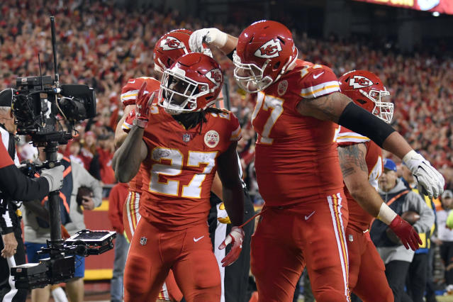 Kareem Hunt went unclaimed on waivers this week, which makes him a free agent. He is currently on the commissioner's exempt list. (AP)