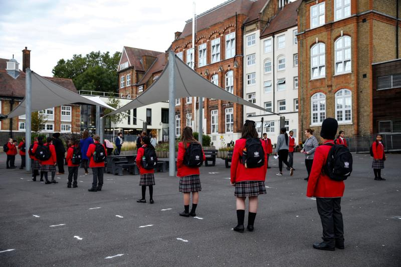 Thousands of pupils across the country have already been forced to self-isolate after positive cases of Covid-19 were identified amongst their peers or teachers. (Photo: Hollie Adams via Getty Images)