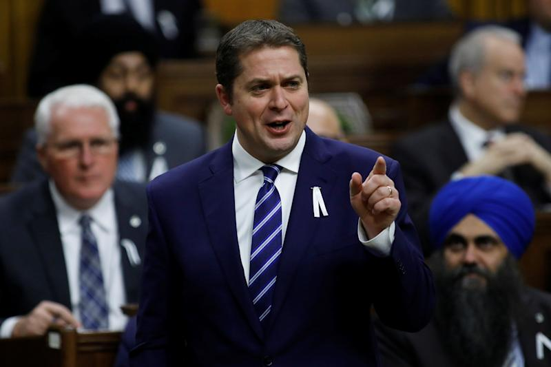 Canada's Conservative Party leader Andrew Scheer speaks during debate about the Throne Speech in the House of Commons on Parliament Hill in Ottawa on Dec. 6, 2019. (Photo: Blair Gable / Reuters)
