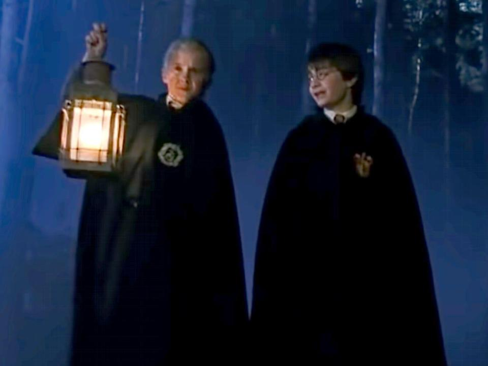 draco and harry in harry potter and the sorcerer's stone