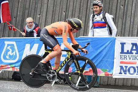 Cycling - UCI Road World Championships - Women Individual Time Trial - Bergen, Norway - September 19, 2017 - Annemiek van Vleuten from The Netherlands competes. NTB Scanpix/Marit Hommedal via REUTERS