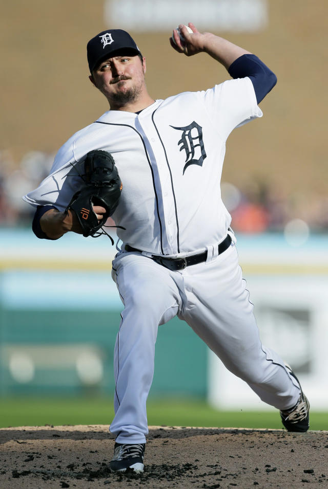 Detroit Tigers' Blaine Hardy pitches to a Cleveland Indians batter during the second inning of a baseball game Saturday, July 28, 2018, in Detroit. (AP Photo/Duane Burleson)